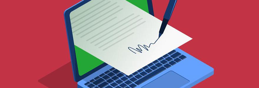 Signature électronique des documents